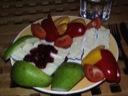 Brie med frugt og pebermix