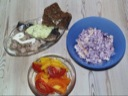 Frokostfisk m. tun, kippers i vand, grønt