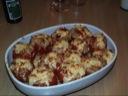 Fyldte tomater med torskerogn