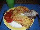 Æggekage med kartoffel