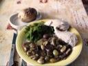 Kylling med champignon, vindruer  &  sukkerærter