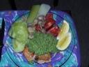 Fisk med broccolipaté (heri æg)