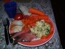 Frokostlaks og hellefisk med kold karry