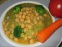 Broccolipuré med kikærter