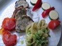 Farsterrin med aubergine
